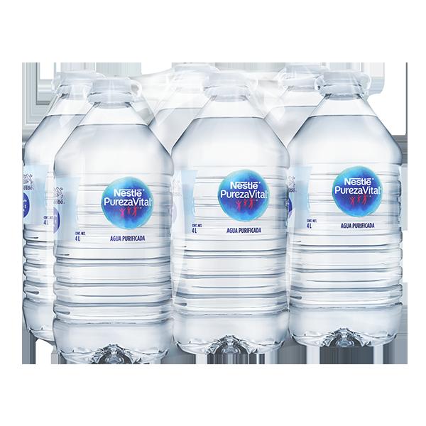 paquete de agua Nestlé Pureza Vital con 6 galones de 4 L c/u