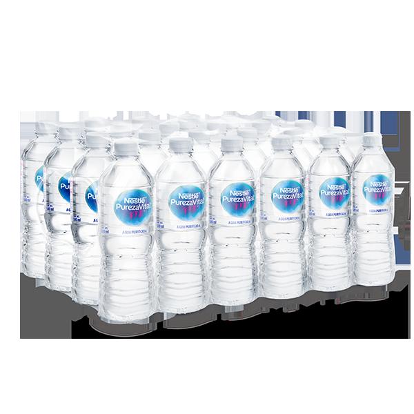 paquete de agua Nestlé Pureza Vital con 24 botellas de 500 ml c/u