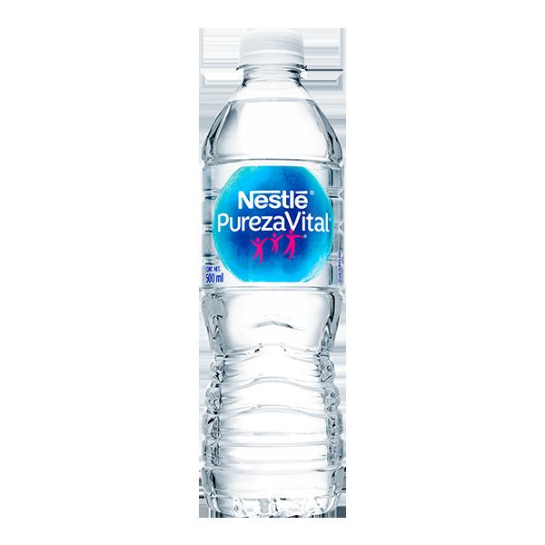 botella de agua Nestlé Pureza Vital de 500 ml