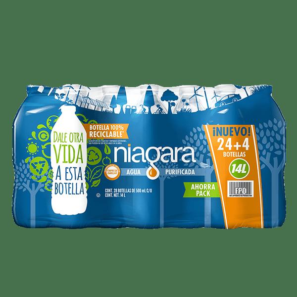 paquete de agua Niagara con 28 botellas de 500 ml c/u