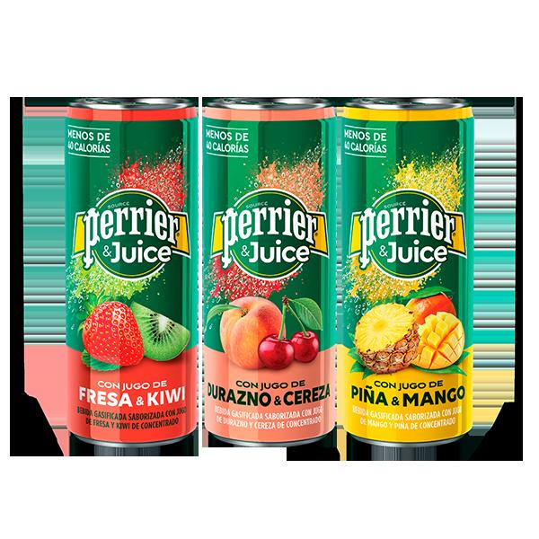 latas de Perrier&Juice Variado de 250 ml