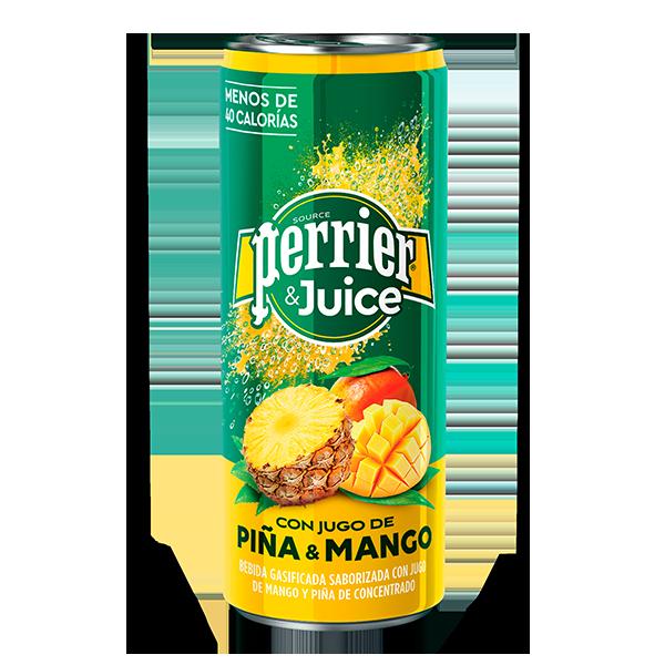 lata de Perrier&Juice Piña Mango de 250 ml