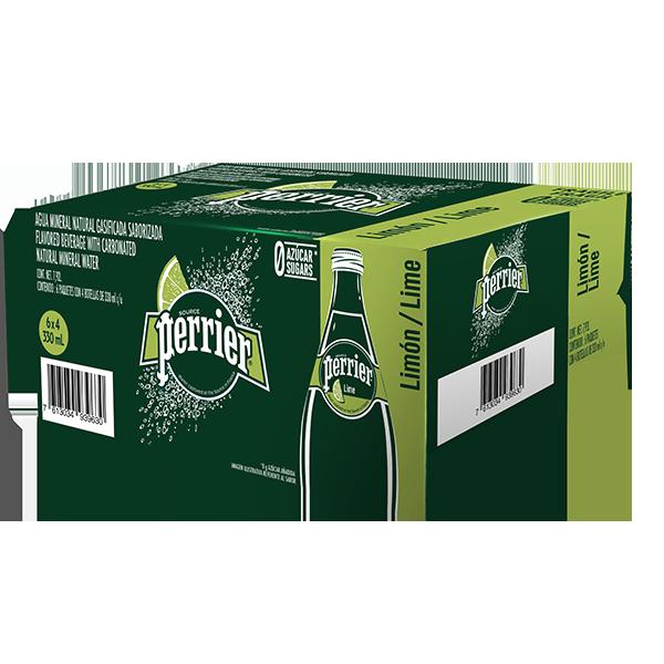 caja de agua Perrier limón con 24 botellas de 330 ml c/u