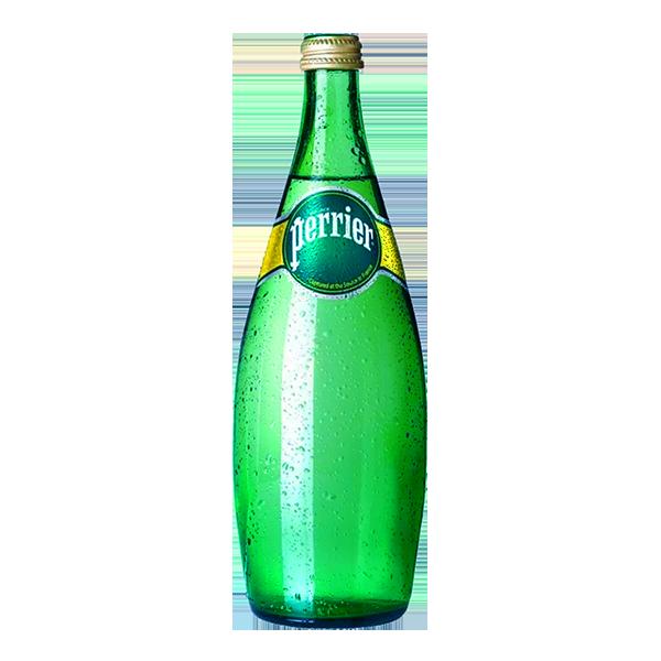 botella de agua Perrier de 750 ml