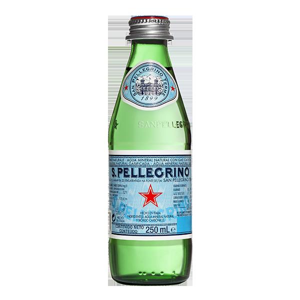 botella de agua San Pellegrino 250 ml