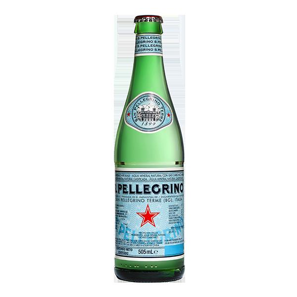 botella de agua San Pellegrino 505 ml