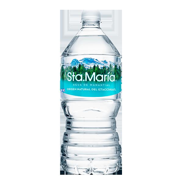 botella de agua Santa María de 1 L