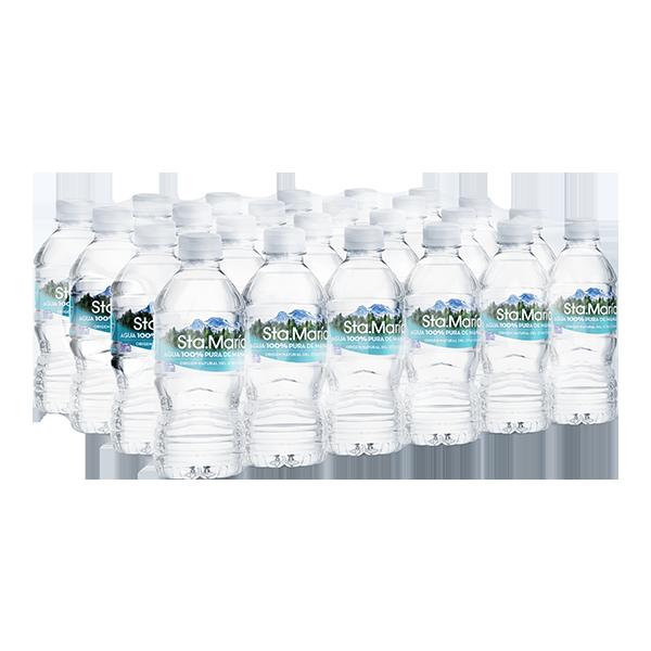 paquete de agua Santa María con 24 botellas de 355 ml c/u