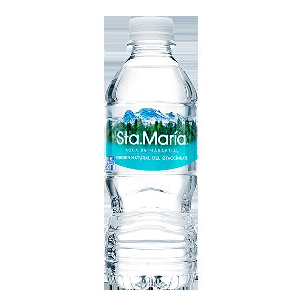 botella de agua Santa María de 355 ml