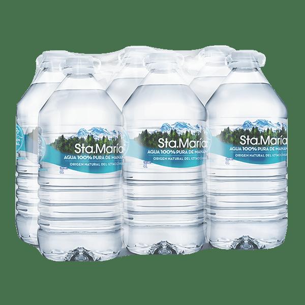 paquete de agua Santa María con 6 galones de 4 L c/u