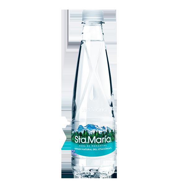 botella de agua Santa María de 400 ml