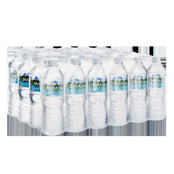 paquete de agua Santa María con 24 botellas de 500 ml c/u
