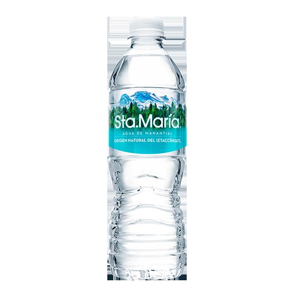 botella de agua Santa María de 500 ml