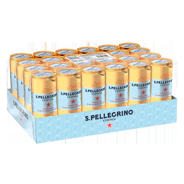 paquete de 24 latas San Pellegrino essenza 330 ml tangerine